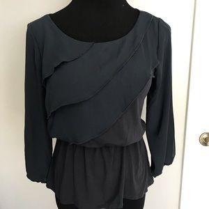 NWT Anthropologie Deletta women's black blouse